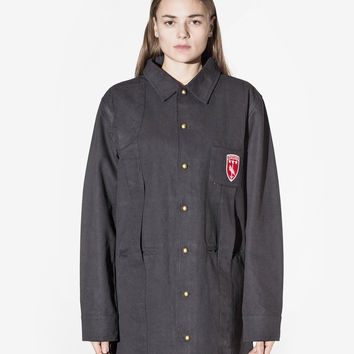 Elongated Cold War Work Jacket in Black: WMNS