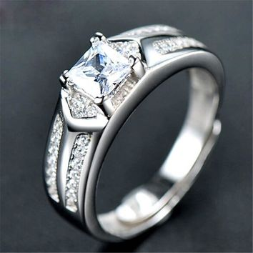 fashion mens boys unique diamond silver adjustment ring casual jewelry best gift rings 73 2