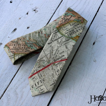 World Map Necktie~Cotton Necktie~Anniversary Gift~Wedding Tie~Mens Necktie~Cotton Tie~Mens Tie~HoBo Ties~Boys Necktie~Boys Tie~Atlas Tie~Map
