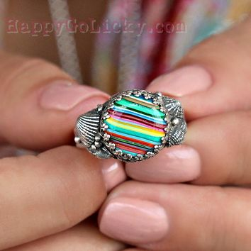 Surfite Ring with Shells