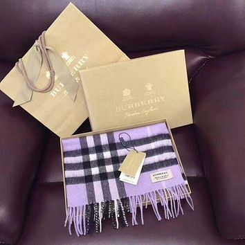 '' BURBERRY '' Woman Accessories Cape Scarf Scarves Purple I