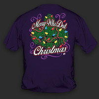Sweet Thing Funny Merry Who Dat Christmas Xmas Fleur De Lis Lights Saints Girlie Bright T Shirt