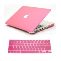 Dealgadgets Pink Frosted Matte Surface Crystal Hard Shell Case for MacBook Pro 13-inch A1278 Alumin