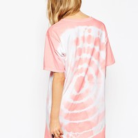ASOS Reclaimed Vintage T-Shirt Dress In Yin Yang Tie Dye