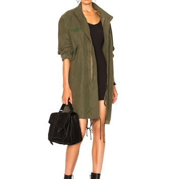 NILI LOTAN West Military Jacket in Army Green | FWRD