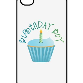 Birthday Boy - Candle Cupcake iPhone 4 / 4S Case  by TooLoud