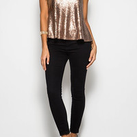 Champagne Poppin' Top - Antique Gold Restock