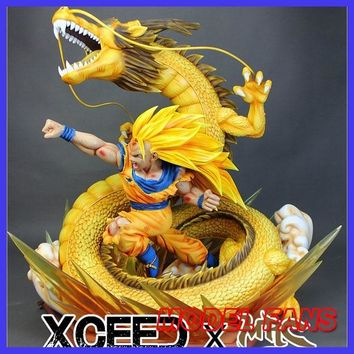 MODEL FANS IN-STOCK copy version MRC 60cm height Dragon Ball Z super saiya 3 goku dragon fist gk resin statue for collection