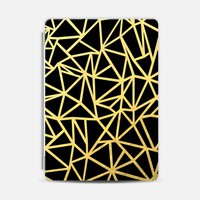 Abstract Outline Thick Gold on Black iPad Air 2 cover by Project M | Casetify