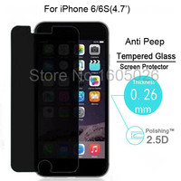 New Anti-Spy Privacy 9H Real Tempered Glass Screen Protector for Iphone 6 6S 4.7""