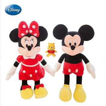 Disney  Disney Genuine Winnie Bear Mickey Mouse Mini Mini Plush Toy Doll 30-45cm Child Birthday Gift