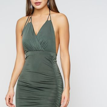 Infatuated Dress - Olive