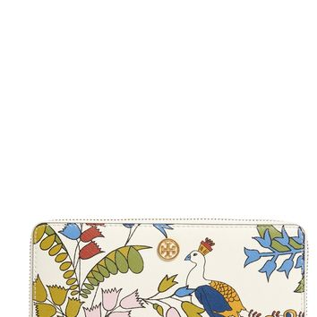 Tory Burch Robinson Floral Leather Continental Wallet | Nordstrom