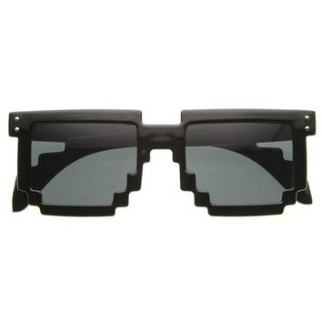 Fashion Square Pixel 8-Bit Graphics Gamer Geek Sunglasses