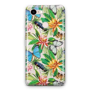 Tropical Butterfly Google Pixel 3 Clear Case