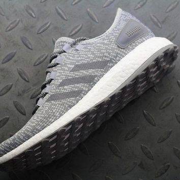 Adidas Pure Boost DPR BA8890 Women Men Fashion Trending Running Sneakers Grey