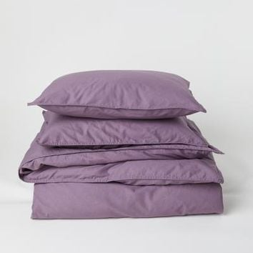 Washed Cotton Duvet Cover Set - Pink - Home All | H&M US