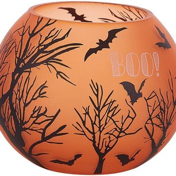 Trick or Treat Boo! Round Tealight Holder