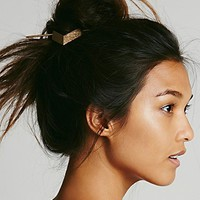 Free People Womens Etched Metal Bun Holder -
