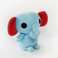 Blue Elephant Plush Stuffed Toy Animal