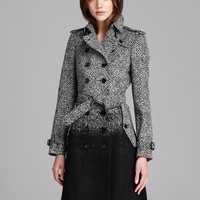 Burberry London Coat - Callcott Ombré Tweed | Bloomingdale's