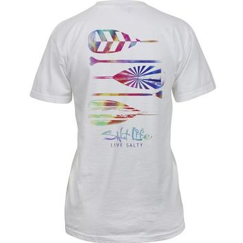 Salt Life Women's Rainbow Ride Cap Sleeve T-shirt