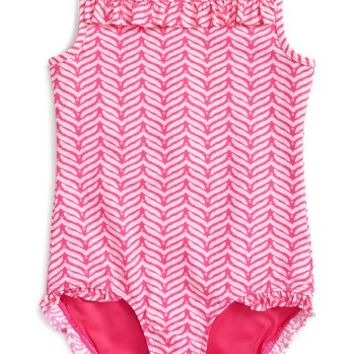 Vineyard Vines Whale Tail One-Piece Swimsuit (Little Girls & Big Girls) | Nordstrom