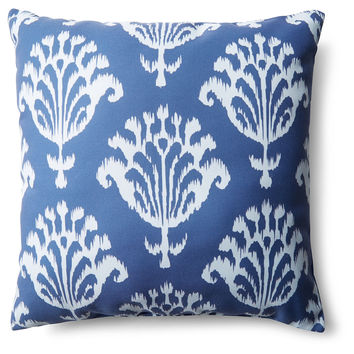 Bold Ikat 20x20 Outdoor Pillow, Navy, Decorative Pillows