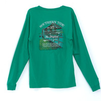 Southern Tide Original Boathouse Long Sleeve T-shirt Available in 2 Colors 1411