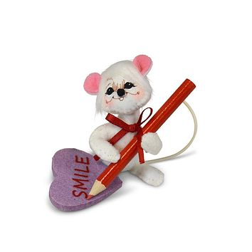 Annalee Dolls 2019 Valentine 3in Message Mouse Plush New with Tags