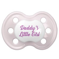 Pink & Purple Daddy's Little Girl Pacifier