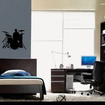 Rock Band Drums and Guitar Wall Art Sticker Decal Ar369