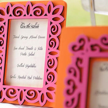 Custom Wedding Frame 2-color sign, Perfect for drink menu, buffet menu, table numbers, etc.