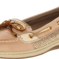 Sperry Top-Sider Women's Angelfish Perforated Boat Shoe,Linen,9 M US
