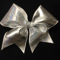 Snakeskin silver foil : GLITZ Cheer BowZ, Custom Products From Your Head To Your Toes