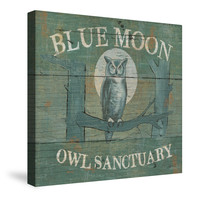 Lodge Signs VII (Blue Moon) Canvas Wall Art