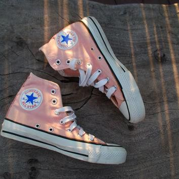Vintage Converse All Star Chucks Peach/Coral Rare Color Skate Shoe Sneakers 70s or 80s