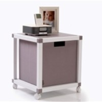 ModeLife - College Dorm Room Bedside Table Cube - Dorm Bedside Table Essential College Furniture