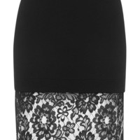 Deep Lace Hem Bodycon Skirt - Skirts - Clothing