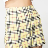 Plaid Ring Skirt
