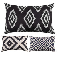Geometric  Rectangle Throw Pillow