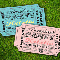 Bridal Shower / Lingerie Party / Baby Shower / Birthday /  Engagement  - Vintage Retro Fun Carnival Circus Ticket Invitation DIY Printable