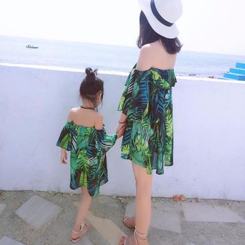 Family Vacation Matching Mother & Daughter Beach Dress