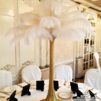 Great Gatsby Feather Centerpiece (Pick Your Colors)