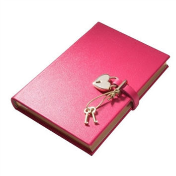 Heart Lock Diary Brights Leather | Pink