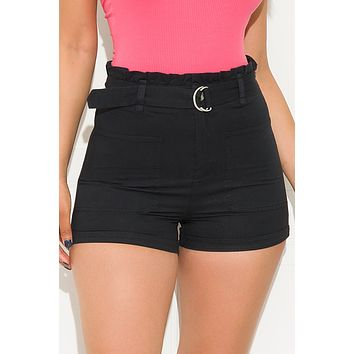Say What You Mean Shorts Black