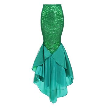 Halloween Costume Mermaid Fish Tail Skirt