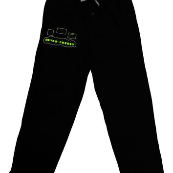 Never Forget Retro 80's Funny Adult Lounge Pants by TooLoud
