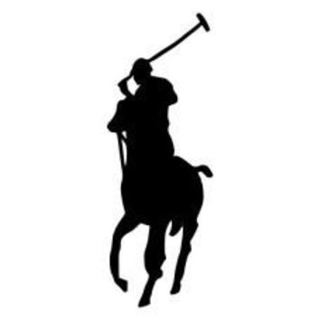 Polo Horse Die-Cut Decal Sticker Car Window Wall Bumper Phone Laptop