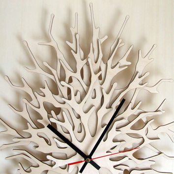 Large wall clock - Coral - Vertical